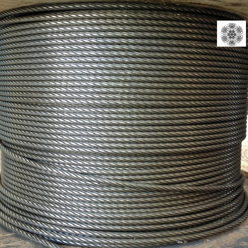 Cable de acero 156 am 6 26 iwrc res unidad de 220 - Cable acero trenzado ...
