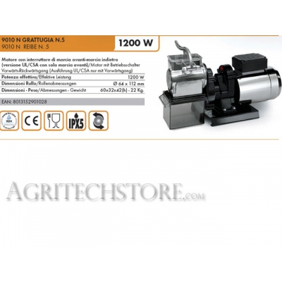 Ralladora eléctrica Reber N°5 9010NP