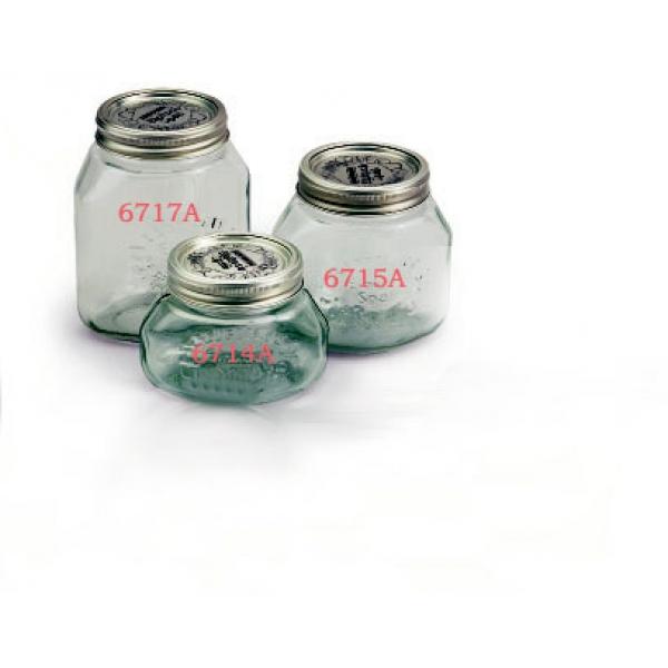 Tarros de Vidrio para Vacío de 1 Litro