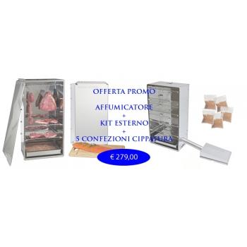Oferta Fumador kits completos y externa 5 Kg.Cippato