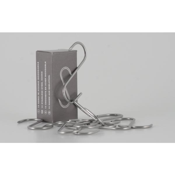 Gancho Paquete de 10 piezas de acero.