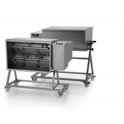 Mezcladora de Carne con Doble Paleta y Ruedas 50 kg. Trifásico