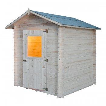Cm Casa de madera. 200x200 enclavamiento Mod. Pistacho
