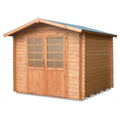Cm Casa de madera. 250x250 enclavamiento Mod. Neptuno