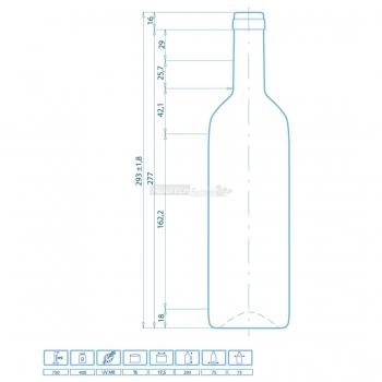 Botella Burdeos STD Cl. 75