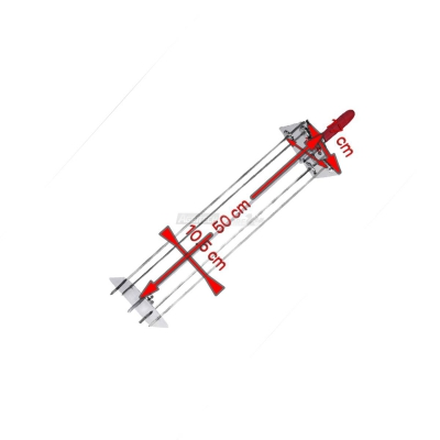 Satélite para Asador 4 Espadas de 50 cm. 0545 + Varilla
