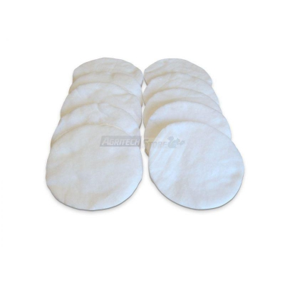 Serie de 10 discos de algodón para KIT DE FILTRO DE ACEITE 30 lt